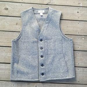 Filson grey vest virgin wool size 44